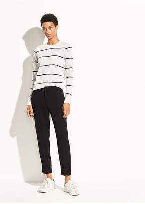 Vince Cuffed Crepe Suiting Trouser