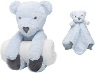 Elegant Baby Bear Bedtime Huggie Stuffed Animal, Blanket & Security Blanket Set