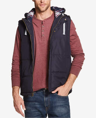 Weatherproof Vintage Men Quilted Hooded Vest