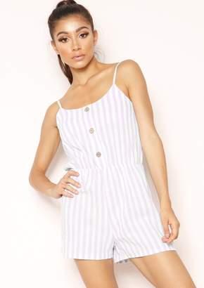 44f8e6f3d5cc Missy Empire Missyempire Diana Pink Stripe Button Playsuit