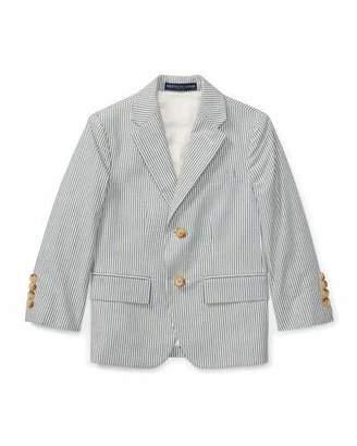 Ralph Lauren Seersucker Cotton Blazer, Size 4-7