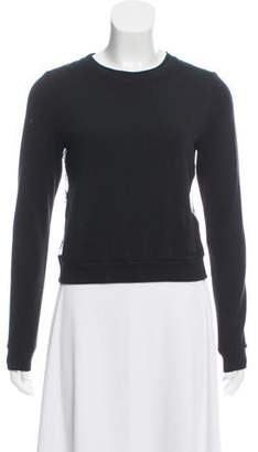 Alice + Olivia Lace-Back Crew Neck Sweater