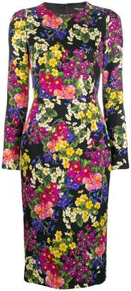 Dolce & Gabbana floral print fitted dress