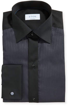 Eton Men's Formal Satin Stripe Contemporary Dress Shirt