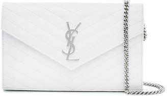 Quilted Monogram leather shoulder Bag