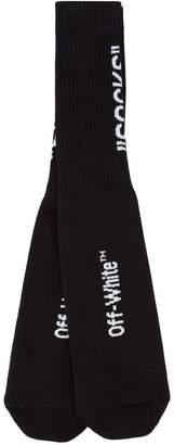 Off-White logo-intarsia socks