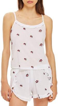 Topshop Floral Embroidered Camisole