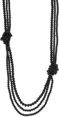 Vera Wang Simply Vera Knotted Long Multi Strand Necklace