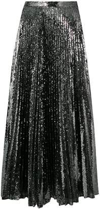 Marco De Vincenzo pleated sequinned skirt
