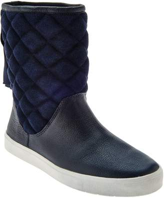 Isaac Mizrahi Live! SOHO Quilted Boots with Back Ribbon Detail
