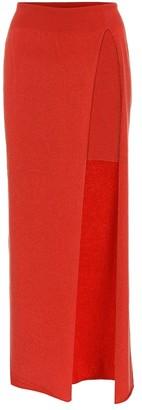Jacquemus La Jupe Peron wool-blend maxi skirt