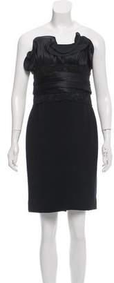 Marchesa Silk Strapless Mini Dress