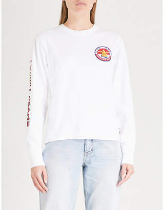 Tommy Jeans '90s logo-print cotton-jersey long-sleeved top