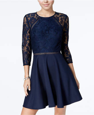c39acc1adbc City Studios Lace Fit And Flare Dress Juniors - ShopStyle