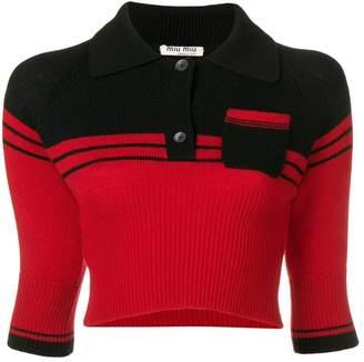 Miu Miu cropped cashmere pullover
