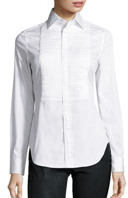 Polo Ralph Lauren Stretch-Cotton Tuxedo Shirt $145 thestylecure.com