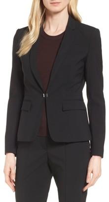 Women's Boss Jaflink Stretch Wool Suit Jacket $595 thestylecure.com