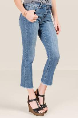 francesca's Salma Cropped Bootcut Jeans - Medium Wash
