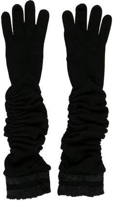 Alice + Olivia Ruched Merino Wool Gloves