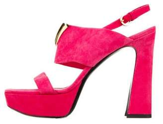 Louis Vuitton Slingback Platform Sandals