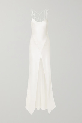 Kiki de Montparnasse Cage Open-back Silk-charmeuse Gown - Ivory