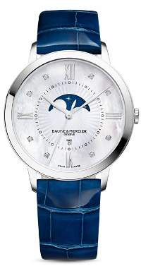 Baume & Mercier Classima Diamond Moon Phase Watch, 36.5mm