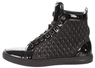 Philipp Plein Quilted High-Top Sneakers