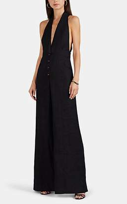 Zimmermann Women's Linen Jumpsuit - Black