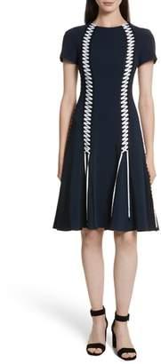 Jonathan Simkhai Lace-Up Crepe Dress