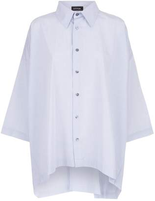 eskandar Dropped Hem Shirt