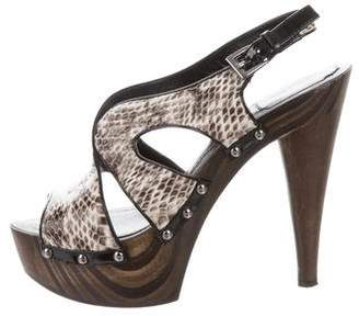 Christian Dior Snakeskin Platform Pumps