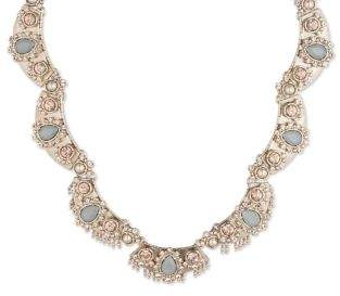 Marchesa Pearl Plate Collar Necklace