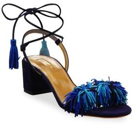 Aquazzura Wild Thing Fringed Suede Sandals $785 thestylecure.com