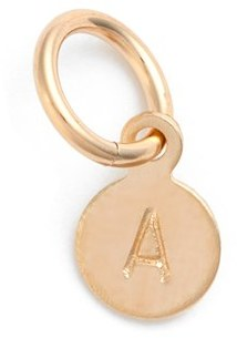 Women's Nashelle Tiny Initial 14K-Gold Fill Coin Charm $22 thestylecure.com