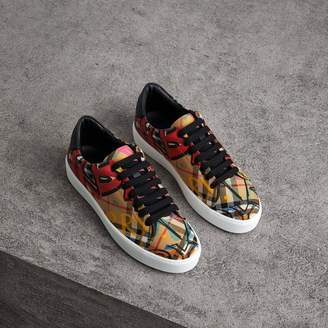 Burberry Graffiti Print Vintage Check Sneakers