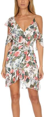 Nicholas Floral Wrap Mini Dress