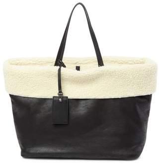 Steve Madden Carin Faux Fur Tim Tote Bag