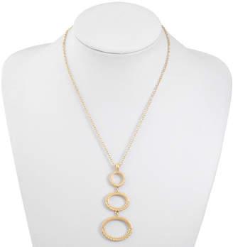 Liz Claiborne Womens Oval Pendant Necklace