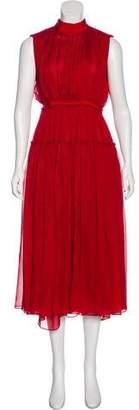 Maison Rabih Kayrouz Silk Sleeveless Dress