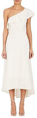 A.L.C. Women's Evangeline Linen-Silk One-Shoulder Dress