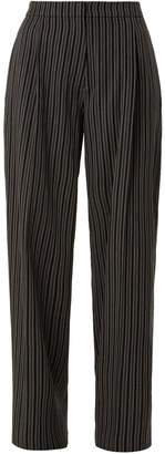 Le Grand Pantalon wide-leg striped-wool trousers