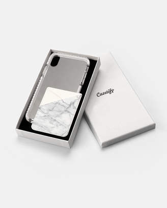 Impact Case & Card Holder Gift Set for iPhone X - White Marble