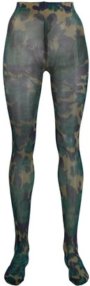 Richard Quinn camouflage pattern tights