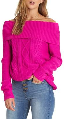 Billabong Off Shore Off the Shoulder Sweater
