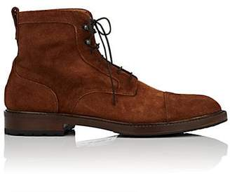 Barneys New York Men's Cap-Toe Suede Boots - Brown
