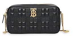Burberry Women's Quilted Check Lambskin Camera Bag