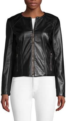 PREMISE STUDIO Faux-Leather Moto Jacket