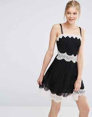 Oasis Lace Trim Cami Mini Dress $83 thestylecure.com