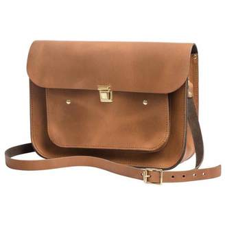 At Wolf Badger N Damus London Vintage Tan Leather 13 Inches Pocket Satchel