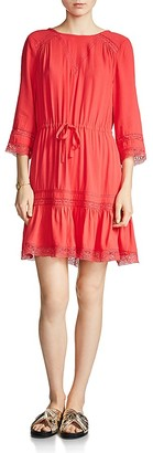 Maje Ronsard Lace-Trimmed Dress $295 thestylecure.com